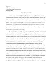 Door to Door campaigning Essay