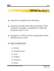 week 9 sessions 24-26 slides 1-18 java programming with GUI (part 1)