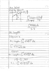 ARC VALUE AND ARC LENGTH NOTES
