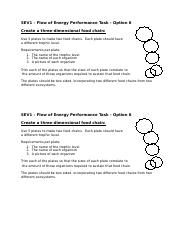 PT6 - Create a food chain instructions