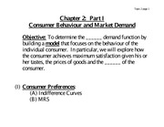 Consumer Behaviour and Market Demand