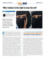 1899 'Why I believe in the right to wear the veil'