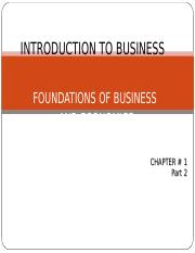 Introduction to Business - Chapter 1 - Foundations of Business & Economics_Part 2