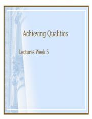 achieving qualities week 5