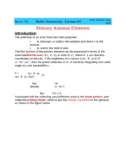 Physic 728  Lecture 4