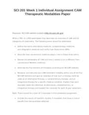 cam therapeutic modalities paper Issuu is a digital publishing platform that makes it simple to publish magazines, catalogs, newspapers, books, and more online easily share your publications and get them in front of issuu's.