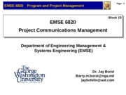 EMSE 6820R Fall 2012 L8 Block 10 - Comms(1)-2
