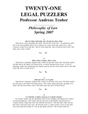 TWENTY-ONE_LEGAL_PUZZLERS