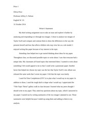 Writers Statement Paper 3