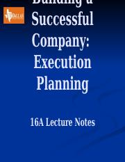 16 Execution Planning  Lecture Notes
