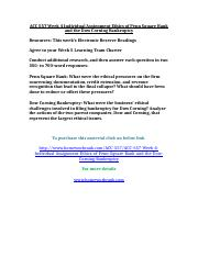 ACC 557 Week 4 Individual Assignment Ethics of Penn Square Bank and the Dow Corning Bankruptcy.doc