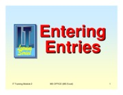 Lesson 2 - Entering and Formatting Entries