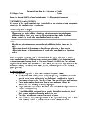 Thematic Essay Practice Migration of Peoples.doc