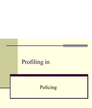 Lecture 17-Profiling in Policing