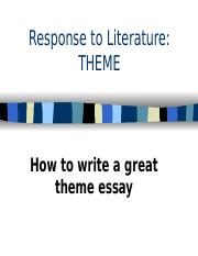 Theme essay writing