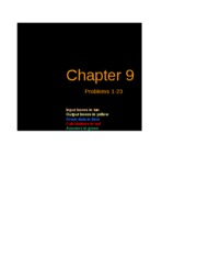 Excel Solutions - Chapter 09