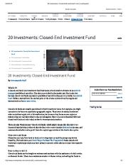 20 Investments_ Closed-End Investment Fund _ Investopedia