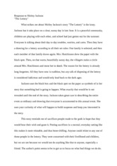 a angelou summary response new directions a angelou  1 pages the lottery