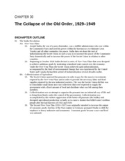 Collapse of old order ch. 29