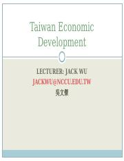 Taiwan_Economic_Development_for_Exchange_Students.ppt