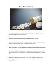 Xanax Abuse Fact Sheet (1)