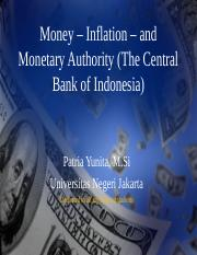 Money – Inflation – and Monetary Authority (.ppt