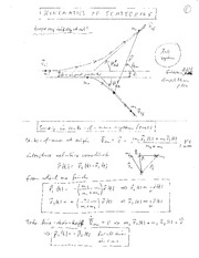 Physics 305_Class Notes on Elastic Scattering in Laboratory Frame and in Center-of-Mass Frame