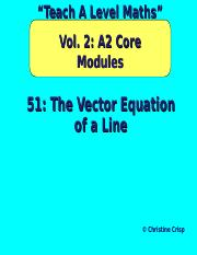 51The Vector Equation of a Line.ppt
