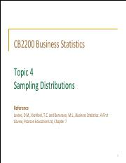 Topic 4 Sampling Distributions (Student)