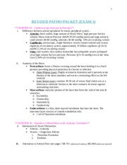 REVISED PATHO PACKET (Exam 3)