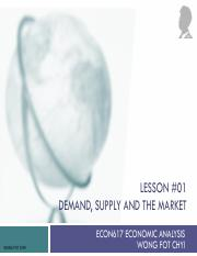 Lesson 01 Demand, Supply and the Market .pdf