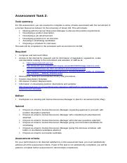 BSBHRM405 Assessment 2 Instructions.docx
