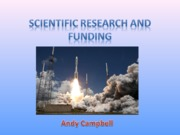 Scientific Research and Funding