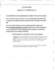 EE 313 Fall TTH 2010 Exam _ 2 Solution