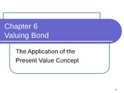 Chapter 6 Valuation of Bonds