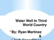 Water Well In Third World Country