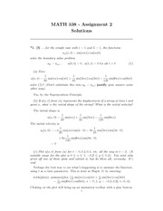 MATH 338 Assignment 2 Solutions