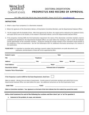 doctoral dissertation approval form Follow these instructions for completing the thesis/dissertation committee approval page the thesis/dissertation approval pages are available in electronic format there are three options for theses, dissertations, and music doctoral documents: the standard approval form with signatures for a four- member.