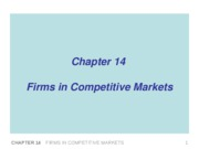14 firms in competitive markets MV