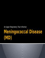 Week 9 - Meningococcal Disease