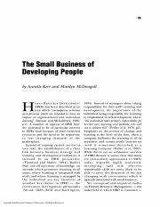 Small Business of Developing People