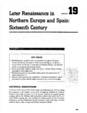 Chapter 19 Later Renaissance in Northern Europe and Spain 16th Century AP Art Study Guide