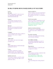 Study Guide for Midterm Exam - Spring 2012