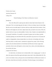 Comparison and Contrast Essay LITR 221.doc