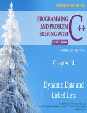 CSC 511 - 01 - CHAPTER 14 - DYNAMIC DATA & LINKED LISTS