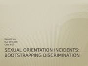 Sexual Orientation incidents