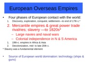 Chapter 16-European Overseas Empire