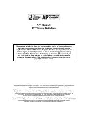 1977 AP Test Scoring Guidelines Question 2