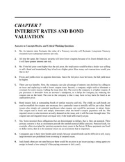 Chapter 07 Homework Solution on Introduction to Finance