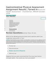 Gastrointestinal Physical Assessment - Review Questions.docx
